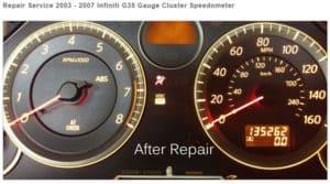 *New* Repair Service for 2003 – 2007 Infiniti G35 Gauge Cluster Speedometers