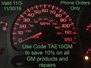TAE November Coupon Code For GM Products and Services