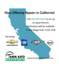 Now Offering Repairs In California!