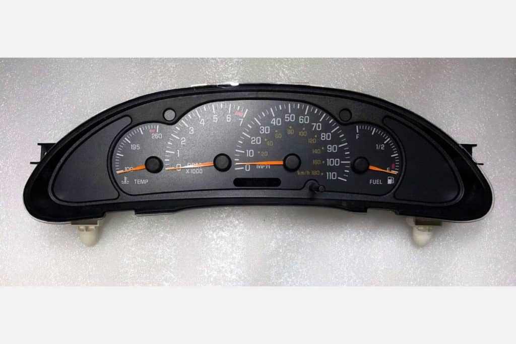 front view of a 2000-2005 Pontiac Sunfire Instrument Cluster
