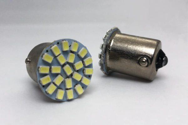 two TAE 1156 T67 BA15S Short LED's
