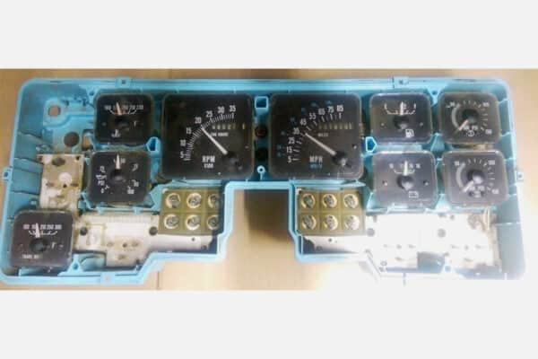 front view of a 1990-2001 International Semi Instrument Cluster