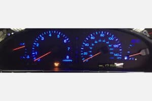 1992-1996 Lexus ES300 Instrument Cluster - Blue Backlight, Red Needles