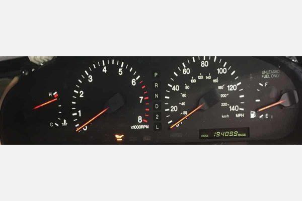 1992-1996 Lexus ES300 Instrument Cluster - White Backlight, Red Needles