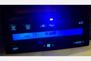 blue LCD screen and buttons on a 1992-1996 Lexus SC300 & SC400 Climate Control
