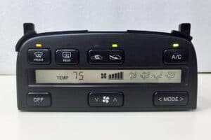 powered on view of a 1992-1996 Lexus SC300 & SC400 Climate Control