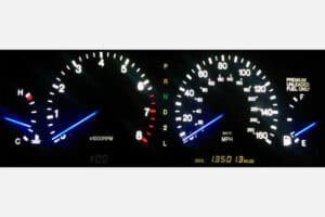 1992-1993 Lexus SC300/400 Instrument Cluster with blue needles and white backlight
