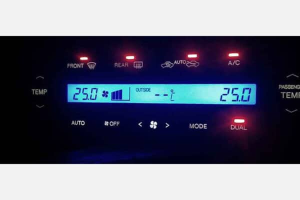 1995-2000 Lexus LS400 Climate Control with an LED Upgrade