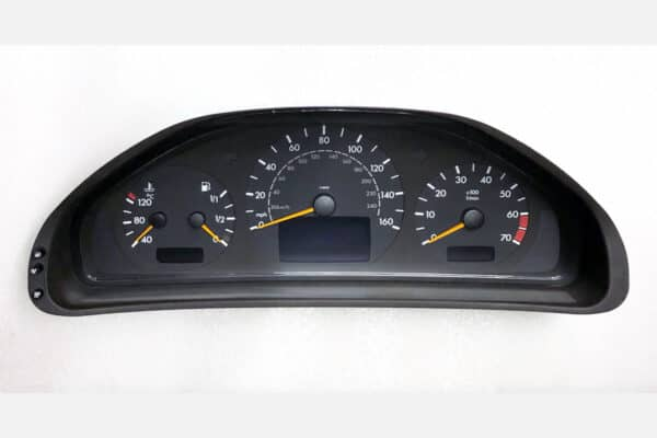 front view of a 1996-2001 Mercedes E, C Class Instrument Cluster