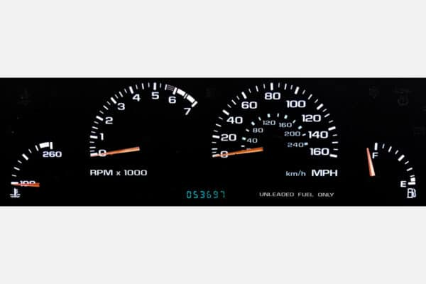 white LED backlighting in a 1996 Impala SS Instrument Cluster