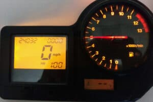 OEM lighting on a 2000-2001 Honda CBR Instrument Cluster