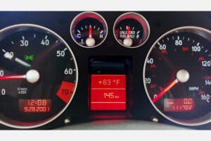powered on view of a 2000-2006 Audi TT Instrument Cluster