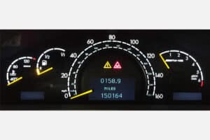 powered on view of a 2000-2006 Mercedes-Benz S Class Instrument Cluster