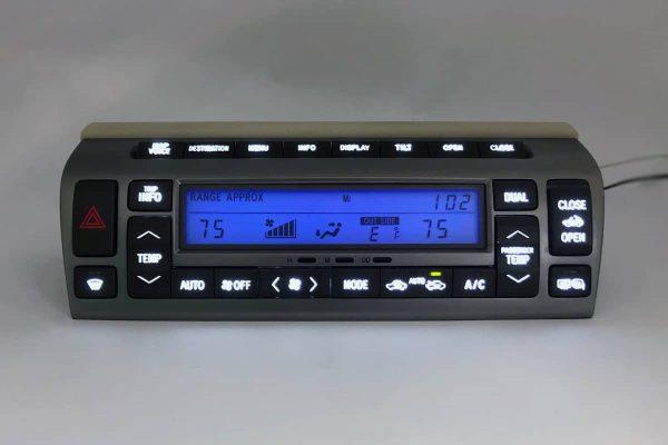 blue LED upgrade on a 2002-2009 Lexus SC430 Climate Control