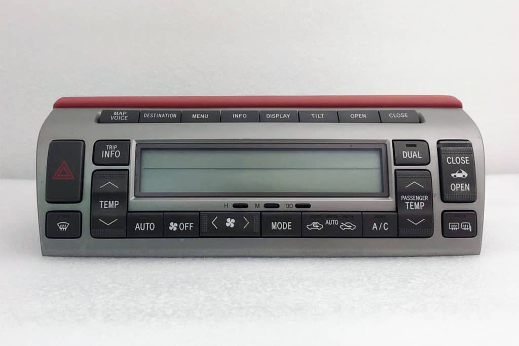 front view of a 2002-2009 Lexus SC430 Climate Control
