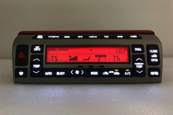 red LED upgrade on a 2002-2009 Lexus SC430 Climate Control