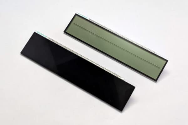side by side comparison of OEM and Black 2002-2009 Lexus SC430 Climate LCD Screens