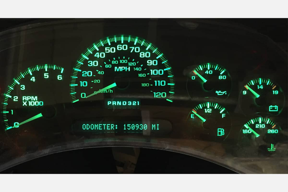 Auto Parts & Accessories Car & Truck Gauge Trim Chevy GMC Truck Cluster White Face 7 Gauge Steppers Green LED Kit 03 04 05 06