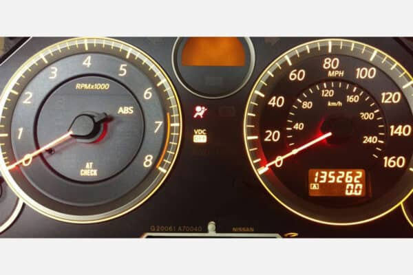 2003-2007 Infiniti G35 Instrument Cluster after repair completed