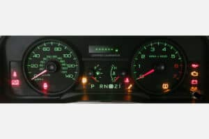 2006-2011 Ford Crown Victoria Instrument Cluster with power on