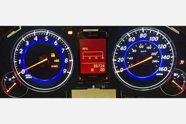 powered on 2007-2009 Infiniti G35, G37 Instrument Cluster