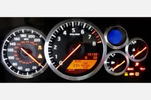 2009-2011 Nissan GT-R Instrument Cluster powered on after repair