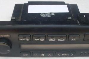 front view of a 1992-1996 Lexus ES300 Climate Control