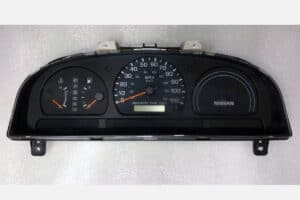 1998 – 1999 NISSAN FRONTIER INSTRUMENT CLUSTER AT NO TACH 24810-3S505