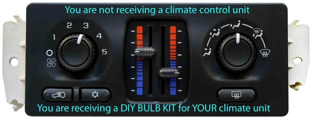 TAE 2003 - 2006 GMC, Chevrolet Truck DIY Climate Control Bulb Kit