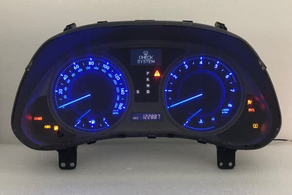 2006-2008 Lexus IS250, IS350 Instrument Cluster with blue LED upgrade