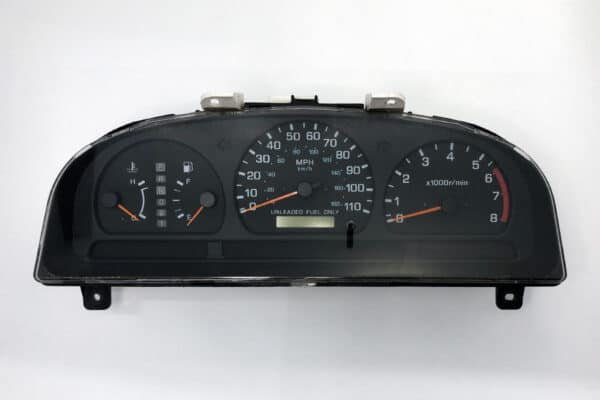 front view of a 1998-1999 Nissan Frontier Instrument Cluster, AT with Tach