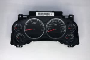front view of a 2007+ GM Truck Instrument Cluster