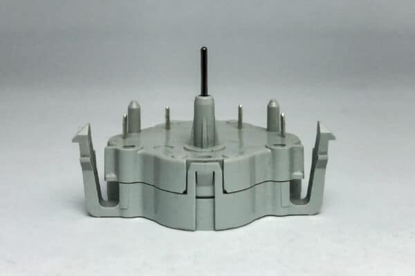 Flat View of Gray Import Stepper Motor