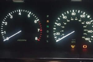 powered on view of a 1993-1994 Lexus LS400 Instrument Cluster