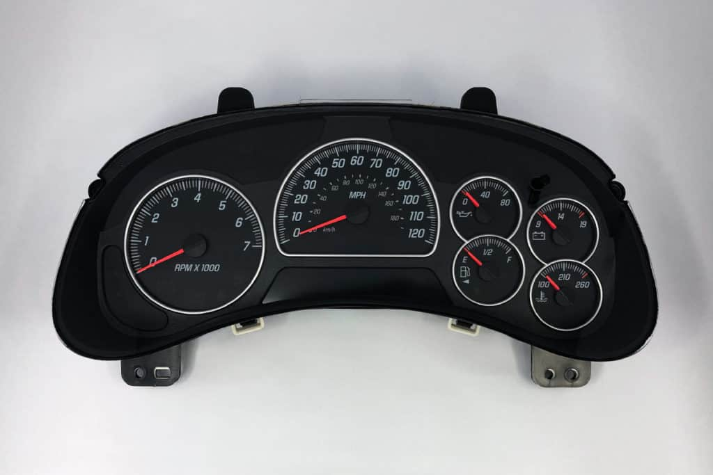 front view of 2005 GMC Envoy Instrument Cluster