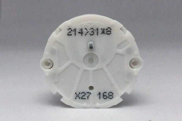 Front view of X27.168 Switec Juken stepper motor