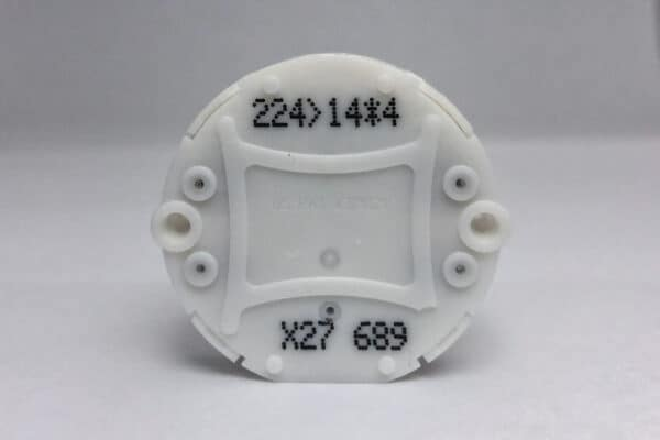 Front view of X27.689 Switec Juken Stepper Motor commonly used for Ducati and Moto Guzzi instrument clusters