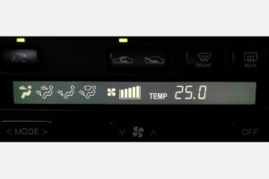 black LCD screen for Toyota Soarer climate control