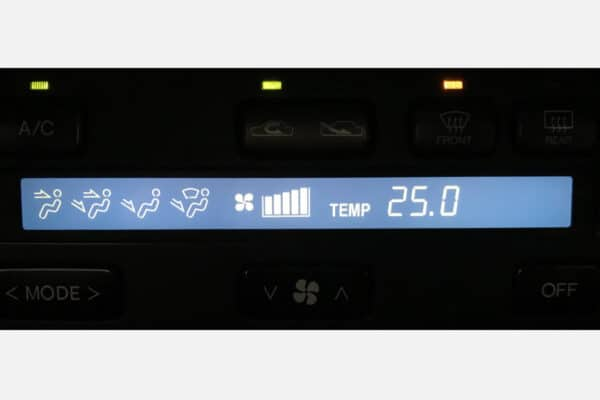 blue LCD screen for Toyota Soarer climate control
