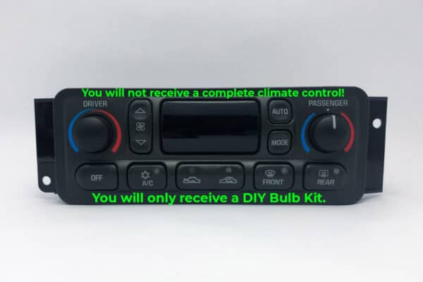 purchase bulb kit for 1997-2004 Chevy Corvette Climate Control