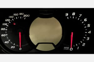 powered on view of a Ski Doo Instrument Cluster 515176706