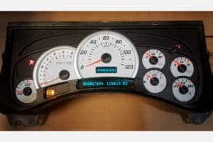 front view of a 2003-2006 Hummer H2 Instrument Cluster