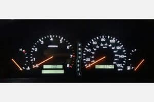 1997-2000 Lexus SC300 & SC400 Instrument Cluster powered on