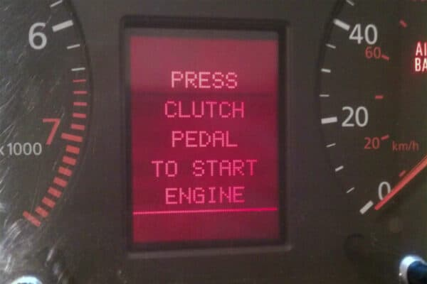 powered on view of a 1997-1999 Audi Instrument Cluster LCD Screen