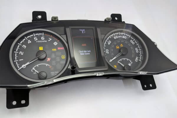 close up view of a 2016-2017 Toyota Tacoma Instrument Cluster