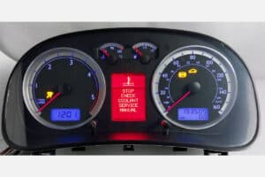powered on view of the 1999-2005 Volkswagen Jetta, Golf, Bora Instrument Cluster