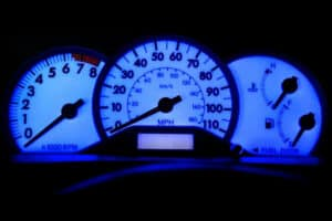 blue LED backlighting on a 2007 Toyota Corolla S Instrument Cluster