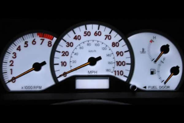 OEM backlighting on a 2007 Toyota Corolla S Instrument Cluster