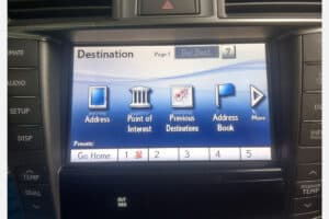 2007 - 2012 Lexus LS460 Navigation Touch Screen Repair