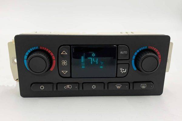 2003 - 2007 GM Chevy GMC Cadillac Auto Climate Control Blue Plastic Screen Lens
